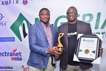 Plentywaka Co-Founders (L-R); Johnny Shaibu and Johnny Enagwolor with the NiTA award